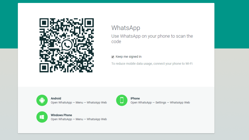Use WhatsApp on a Web Browser