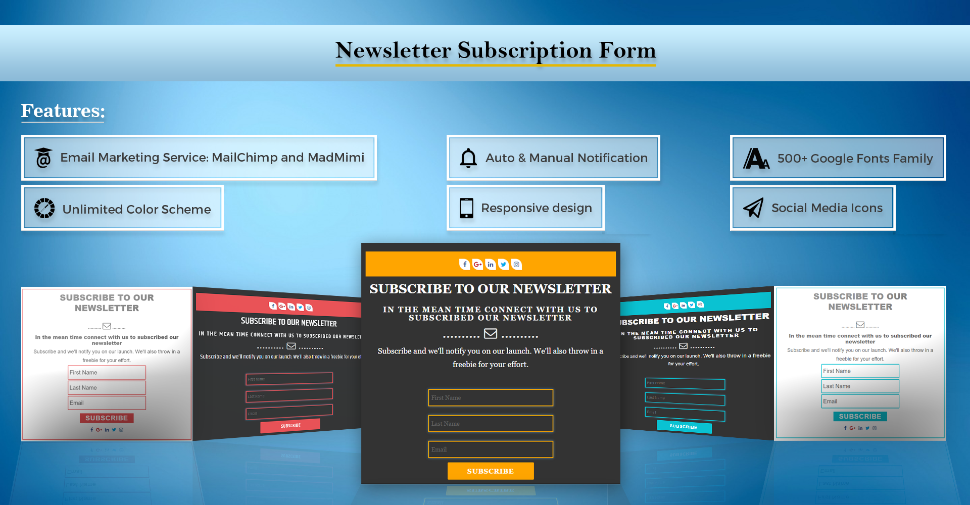 Newsletter Subscription Form-Subscribe Plugins