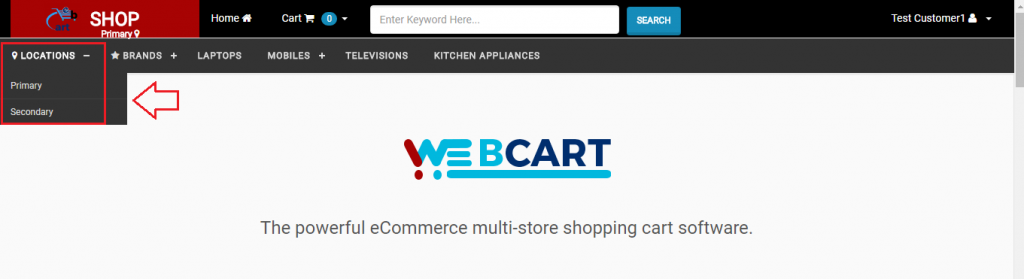 Changing Store's Location - Webcart